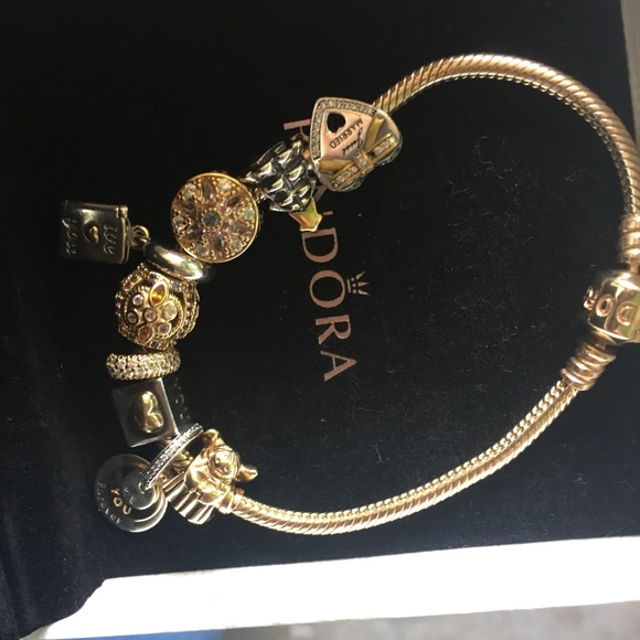 Pandora Jewelry - Authentic brand new with recipes pandora 14k gold